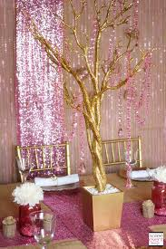 Sweet 16 Table Centerpieces Trend Alert Rustic Glam Pink U0026 Gold Wedding Wedding Tables