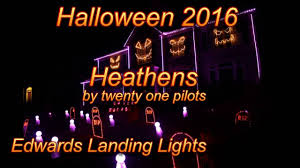 halloween light show 2016 heathens by twenty one pilots youtube