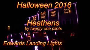 happy halloween lights halloween light show 2016 heathens by twenty one pilots youtube