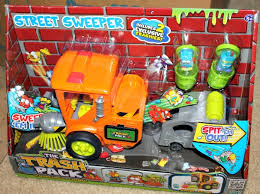 moose toys micro chargers track pack street sweeper