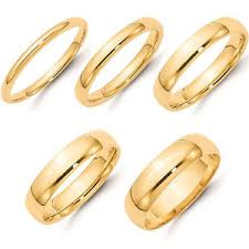 4mm wedding band solid 14k yellow gold 2mm 3mm 4mm 5mm 6mm plain comfort fit