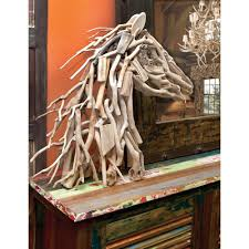 american home 28 in x 27 in driftwood horse head decorative