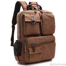 Vintage brown large capacity multi pocketed outdoor travel