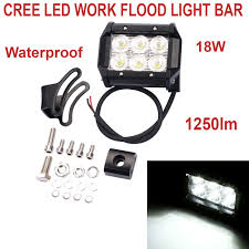 Led Flood Light Bars by 4 Inch 18w Cree Led Work Flood Light Bar Offroad Driving Lamp
