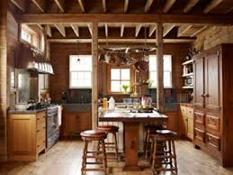 kitchen charming images of various rustic cabin kitchens for kitchen astonishing image of rustic cabin kitchens decoration using rustic round backless solid wood tall