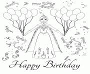 frozen characters happy birthday colouring coloring