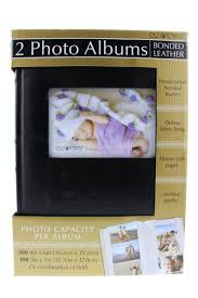 photo albums with memo area town bonded leather photo album black 2 pack fireflybuys