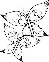 coloring pictures of small butterflies awesome butterfly coloring pages printable for heart color page