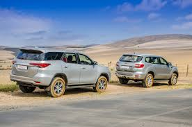Ford Everest Facelift Comparative Review Ford Everest 3 2 4x4 Xlt Vs Toyota Fortuner