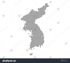 World Map Korea Abstract Map Korea Dots Planet Lines Stock Vector 699566977