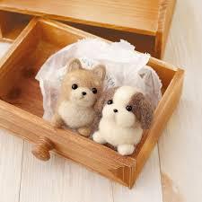 hamanaka wool felt kit shiba inu shih tzu h441 341