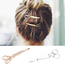 hair barrettes 1 pair women scissors shape hair clip hair pin