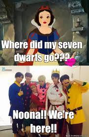 Snow White Meme - snow white and the seven handsome dwarfs d allkpop meme center