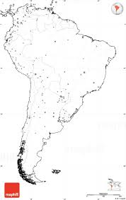 South America Map With Capitals by Blank Simple Map Of South America No Labels
