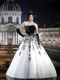 robe de mari e noir et blanc robe de mariée en noir et blanc photos de robes