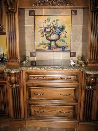 decorative tile backsplash kitchen tile ideas fruit bowl