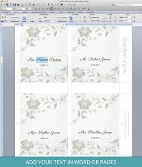 watercolor flowers place card template print