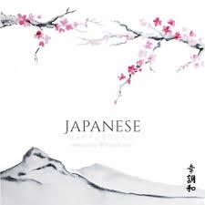 japanese wedding backdrop japanese landscape background vector free