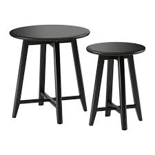 kragsta nesting tables set of   black  ikea with kragsta nesting tables set of  from ikeacom