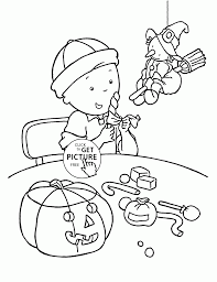 Free Printable Halloween Coloring Sheets by Caillou And Halloween Coloring Pages For Kids Holidays Printables