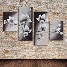 Posters For Home Decor by Online Get Cheap Canvas Flower Wall Mural Painting Aliexpress Com