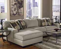 Sectional Leather Sofas For Small Spaces Antique Style Living Room Design With Grey Chaise Small Spaces