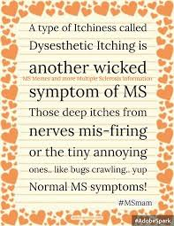 Ms Memes - a type of itchiness called dysesthetic ms memes and more