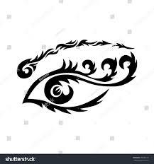 eye maori tribal eye stock illustration 355684118