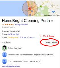 review us on google homebright cleaning perth commercial and