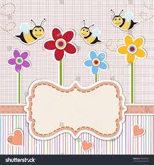 baby shower invitation cute baby invitation stock vector 376041625
