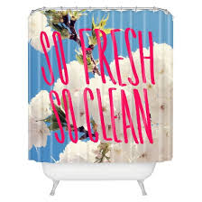 Deny Shower Curtains So Fresh So Clean Shower Curtain Pink Blue Deny Designs Target