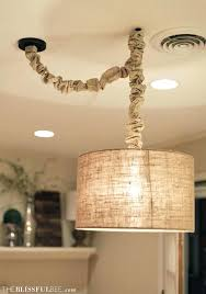 full image for burlap chandelier chain cover burlap chandelier cord cover diy cord cover4