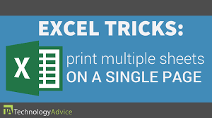 excel tricks print multiple sheets on a single page youtube