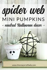 spider web pumpkins the easiest way to decorate pumpkins the
