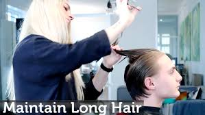 maintaining men u0027s long hair while growing it out youtube