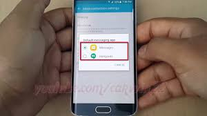 android change default app android lollipop how to change default message app on samsung