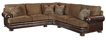 Fabric Leather Sofa Sofa Leather And Fabric Combined Radiovannes