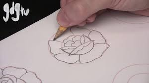 how to draw basic traditional rose tattoo designs by a tattoo