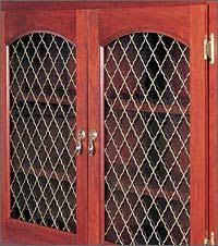 Cabinet Door Mesh Inserts Neo Moorish Wire Mesh Grille By Klise Manufacturing Grand Rapids