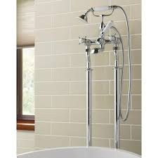butler u0026 rose caledonia pinch floor standing bath and shower mixer