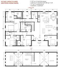 40x60 floor plan pre designed great plains western horse barn home
