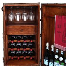 Trunk Bar Cabinet Furniture Handcrafted Steamer Trunk Wine Bar Cabinet Omero Home
