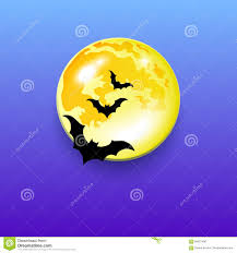 vector halloween night moon horror bat background stock vector