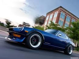 nissan datsun car nissan datsun datsun 240z blue cars motion blur