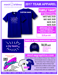 Make Your Own Name Brand Clothes March For Babies Teams