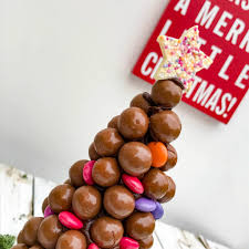 malteser and smartie christmas tree by sweet trees