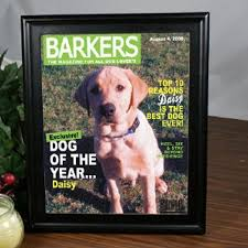 pet picture frame for dogs dog magazine cover dog gifts