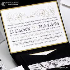 black and gold wedding invitations modern designs invitations