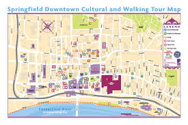 Ma Map Cultural District Walking Map Springfield Bid
