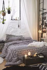 Dark Rug Bedroom Rustic Bohemian Bedroom Design With Grey Cozy Bed And